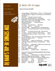 Top 30 Singles 10.28.09